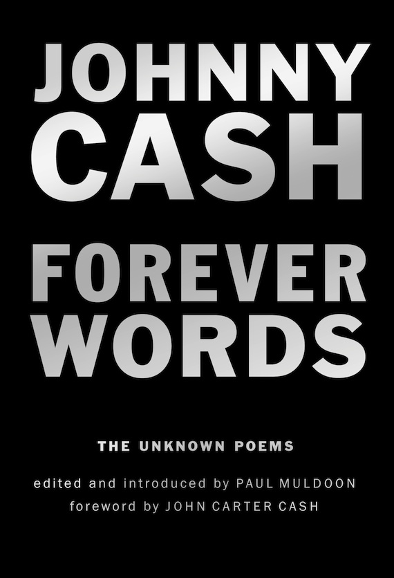 Johnny Cash poetry book cover