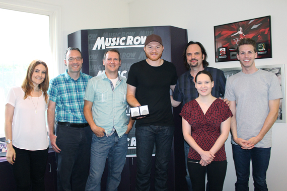 Pictured (L-R): MusicRow's Molly Hannula, Craig Shelburne and Troy Stephenson; Eric Paslay; MusicRow's Sherod Robertson, Eric Parker, and Jessica Nicholson