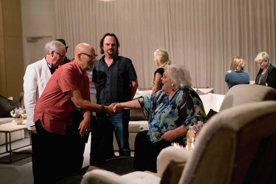 Hazel Smith with David Ross, MusicRow owner/publisher Sherod Robertson, and Robert K. Oermann