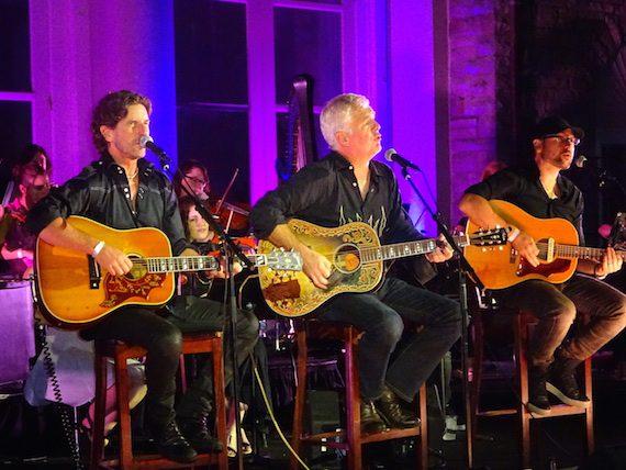 Pictured L-R: Brett James, Rivers Rutherford, Chris DeStefano