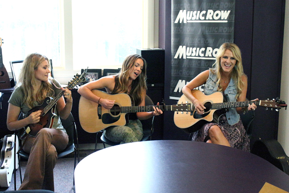 Runaway June performs at the MusicRow office. Photo: Molly Hannula