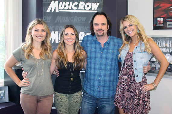Runaway June with MusicRow owner/publisher Sherod Robertson. Photo: Molly Hannula