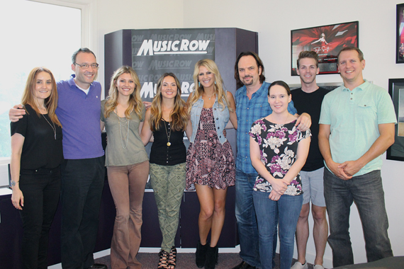 Runaway June with MusicRow staffers.