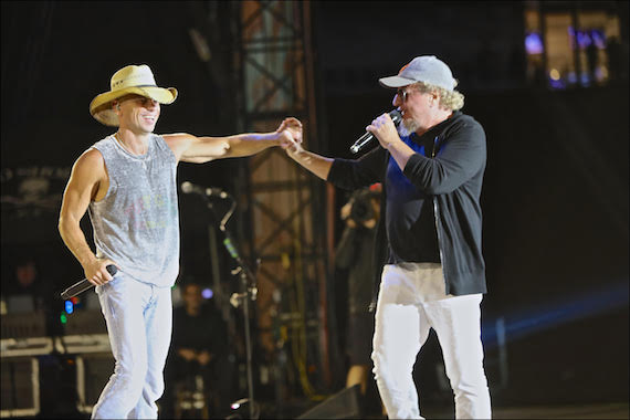 Kenny Chesney with Sammy Hagar. Photo: EB Media PR