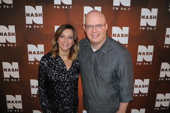 Martina McBride with NASH FM 94.7's Jesse Addy.