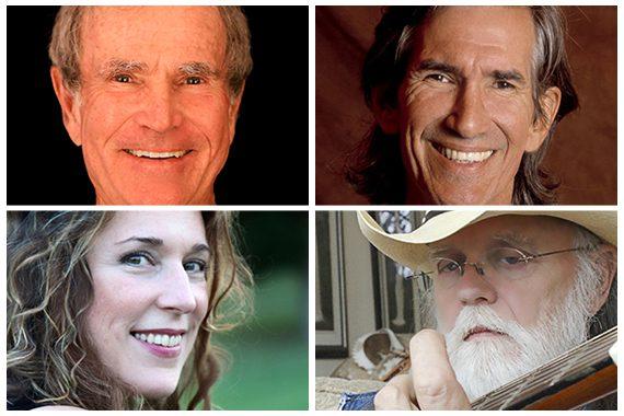 Pictured (clockwise from top left): Bob Morrison, Townes Van Zandt, Aaron Barker, Beth Nielsen Chapman