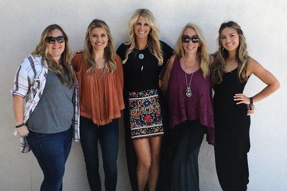 Pictured (L - R): Jackie Stevens, Hannah Mulholland, Jennifer Wayne, Whitney Allan and Naomi Cooke