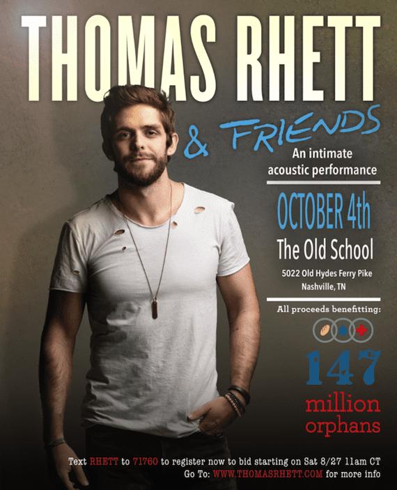 Thomas Rhett Plans Acoustic Benefit Concert For Oct 4