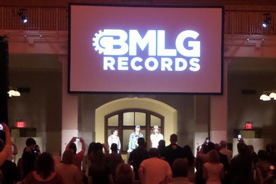 Big Machine's Scott Borchetta and Florida Georgia Line's Brian Kelley and Tyler Hubbard