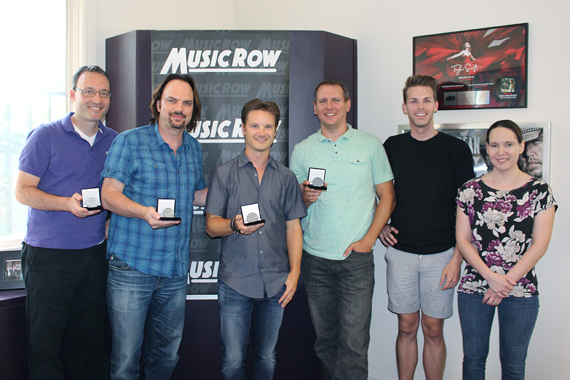Josh Kear with MusicRow staff