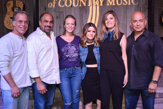 Pictured (L-R): RAC Clark, ACM Awards and ACM Honors Executive Producer; Paul Barnabee SVP, Marketing Sony Music Nashville & Chairman, ACM Board; Tiffany Moon, EVP, Managing Director, ACM; Maren Morris; Janet Weir, Red Light Management; Jack Sussman, EVP, Specials, Music and Live Events, CBS Entertainment. Photo: Michel Bourquard/Courtesy of the ACM