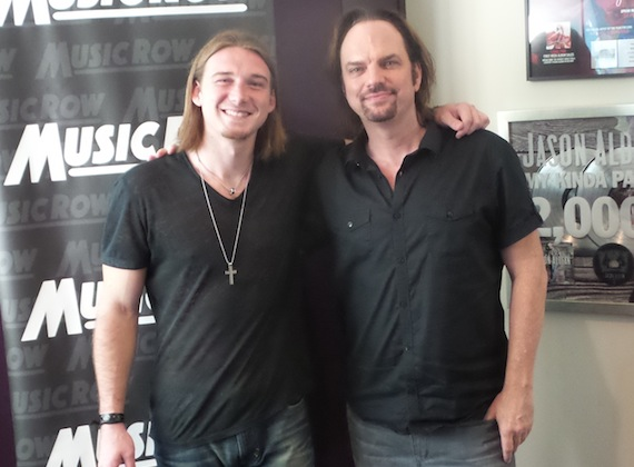 Pictued (L-R): Morgan Wallen, MusicRow Owner/Publisher Sherod Robertson