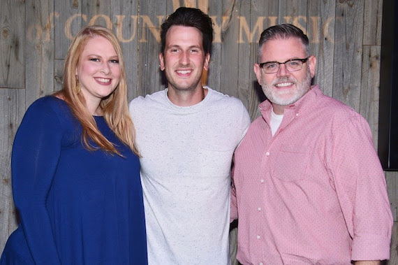 Pictured (L-R): Grace Schoper, Dennis entertainment; Russell Dickerson; Erick Long, ACM Photo: Michel Bourquard/Courtesy of the Academy of Country Music