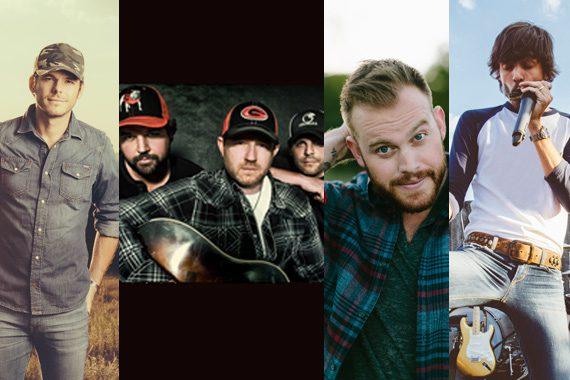 Pictured (L-R): Granger Smith (photo: Erin Ryan Anderson), Peach Pickers, Jon Langston, Chris Janson (photo: Erin Ryan Anderson)