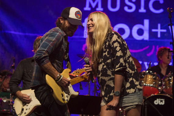 Holly Williams (R) with husband, musician Chris Coleman (L). Photo: Cambria Harkey