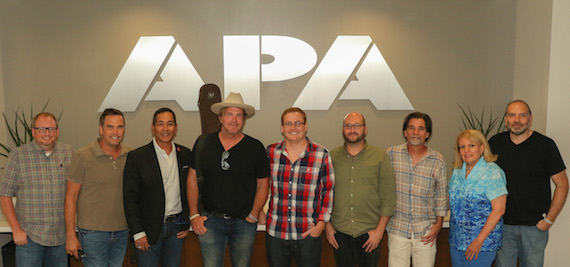 Pictured (L-R): APA's Jeff Hill, Vector's Ross Schilling, APA's Frank Wing, Jack Ingram, APA's Luke Cahill, Heath Baumhor, Steve Lassiter and Bonnie Sugarman and Vector's John Ingrassia.