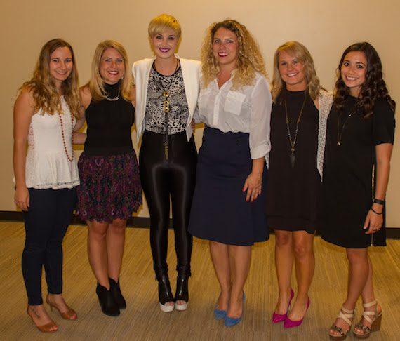 Pictured (L-R): Katie Cline, Mandy Gallagher, Country Music Singer Maggie Rose, Emilee Warner, Leanne Weber, Maya Akser.