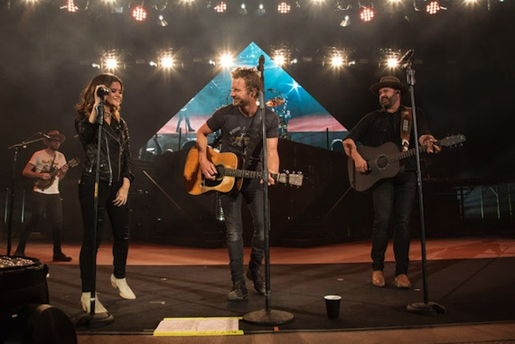 Pictured (L-R): Maren Morris, Dierks Bentley, Randy Houser. Photo: Ryan Silver