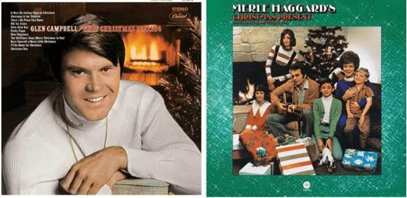 Glen Campbell Merle Haggard Christmas albums