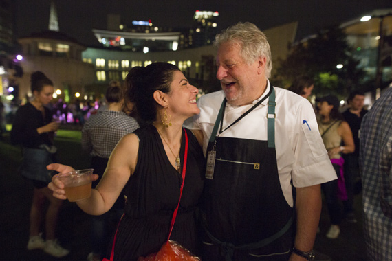 Pictured (L-R): Editor in Chief of Food & Wine Magazine, Nilou Motamed with Adele's Nashville/Bajo Sexto restaurateur Jonathan Waxman. Photo: Cambria Harkey