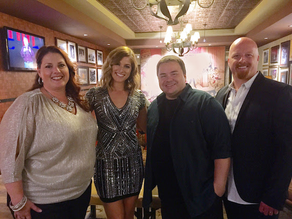 Pictured (L-R): Selah's Amy Perry; singer/songwriter Cassadee Pope; and Selah's Allan Hall and Todd Smith