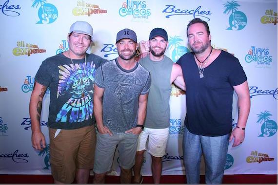 Pictured (L-R): Jerrod Niemann, Cody Alan, XX, Lee Brice