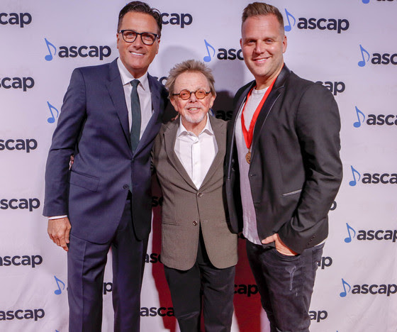 Pictured (L-R): Michael W. Smith, ASCAP President and Chairman Paul Williams, Songwriter-Artist of the Year Matthew West. Photo: Ed Rode/ASCAP