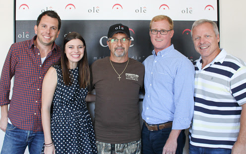 (L-R): Ben Strain, Creative Director, ole; Emily Mueller, Creative Manager, ole; Songwriter/Producer Phil O'Donnell; John Ozier, VP, Creative, ole; Mike Whelan, Sr. Director, Creative, ole.