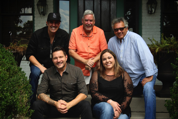 Pictured (L-R) Front: Ty Herndon, Amy Aylward (Buddy Lee Attractions); Back: Erik Halbig (producer), Chuck Rhodes (BFD/Nashville), Dewayne Brown (Sony/RED Distribution)
