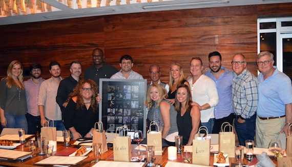 Top Row (L-R): Alison Junker (WC), Will Overton (WC), Matt Michiels (WC), Ben Vaughn (WC), Jon Platt (WC), Rhett Akins, Jess Rosen (Greenberg Traurig LLP), Leslie Roberts (BMI), Steve Butler (WC), Travis Carter (WC), Phil May (WC), Phil Graham (BMI). Bottom Row (Left to Right): Lisa Boullt, Alicia Pruitt (WC), Jessi Vaughn (WC)