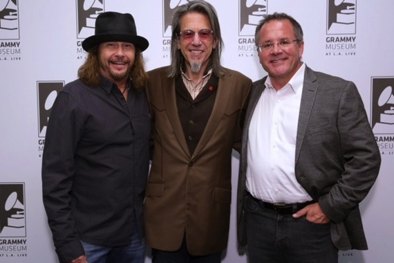 Pictured (L-R): Scott Goldman; George J. Flanigen IV; Pete Fisher. Photo: Rebecca Sapp/WireImage.com