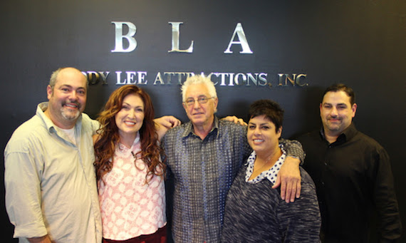 Pictured (L-R): BLA VP Mike Meade, Jo Dee Messina, BLA SR. VP David Kiswiney, BLA CEO & Co-Owner Donna Lee &BLA Co-Owner Tony Lee