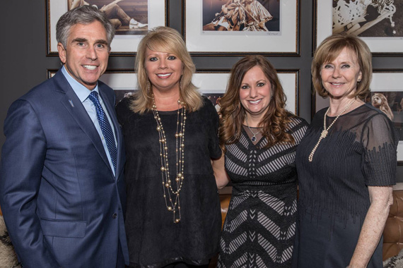 Pictured (L-R): City National Bank's Russell Goldsmith, Chairman and CEO; Diane Pearson, SVP, Team Leader Entertainment Division; Lori Badgett, SVP, Team leader, Entertainment Division; Martha Henderson, EVP Entertainment. Photo: Phillip Fryman.