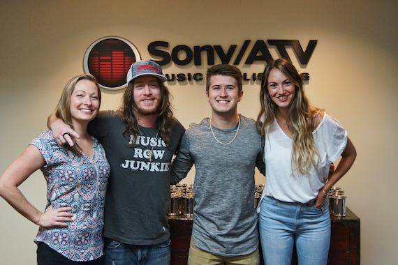 L to R: Abbey Adams (Sony/ATV Music Publishing), Jaren Johnston, Dylan Schneider and Evyn Mustoe (ASCAP)