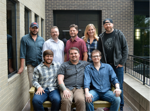 (L to R): Will Overton (WC), Berryhill, Noah McPike (Berryhill's attorney) Back row (L to R): Travis Carter (WC), Ben Vaughn (WC, Matt Michiels (WC), Alison Junker (WC), BJ Hill (WC)