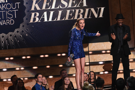 Pictured (L-R): Kelsea Ballerini, Arsenio Hal. Photo: Rick Diamond/Getty Images for CMT