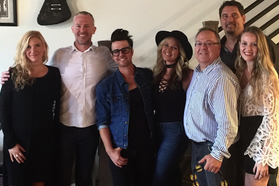 Pictured (L-R): Sunni Ray, Harmon Music Management; Allen Bargfrede, Blue Tile Media; Jon Decious and Steevie Steeves of Towne; Derek Crownover, Dickinson Wright; Rusty Harmon and Lexi Dawson of Harmon Music Management