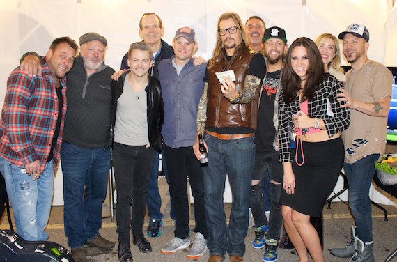 Pictured after the 1st Annual Detroit Songwriters Festival show at Coyote Joe's (L-R): Uncle Kracker, Coyote Joe's owner Joe Hellebuyck, Hunter Hayes, BMI's Dan Spears, Troy Verges, Kid Rock, WYCD-FM PD Tim Roberts, LoCash's Preston Brust, WYCD-FM Event Manager Sarah Thomas, Sarah Buxton, LoCash's Chris Lucas