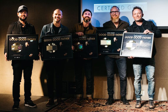 Chris Tomlin's Band, Pictured (L-R): Matthew Melton (Bass Guitar), Daniel Carson (Leader Guitar), Travis Nunn (Drums), Matt Gilder (Keys), Chris Tomlin