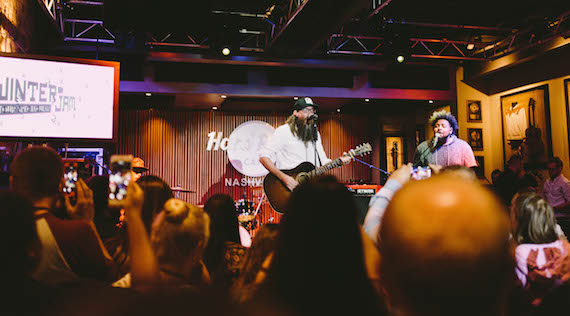 Crowder performs at the Winter Jam 2017 launch party