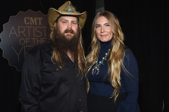 Pictured (L-R): Chris Stapleton, Morgane Stapleton. Photo: Rick Diamond/Getty Images for CMT