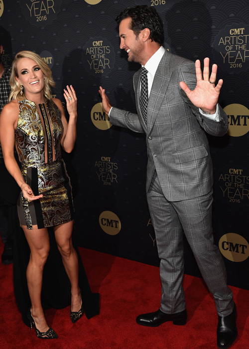 Photo: Carrie Underwood and Luke Bryan. Photo: John Shearer/Getty Images for CMT
