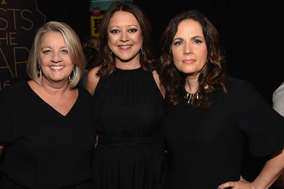 Pictured (L-R): Love Junkies' Liz Rose, Hillary Lindsey, Lori McKenna. Photo: Rick Diamond/Getty Images for CMT