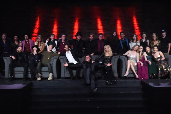 Pictured (L-R): Back Row: Midland's Mark Wystrach, Cameron Duddy, Jess Carson, Lauren Jenkins, Trent Harmon, Ryan Follese, A Thousand Horses' Michael Hobby, Zach Brown, Bill Satcher and Graham DeLoach, Brett Young, The Church Sisters' Savannah and Sarah Church, Tara Thompson and Tucker Beathard. Front Row: Brantley Gilbert, Florida Georgia Line's Brian Kelley and Tyler Hubbard, Thomas Rhett, BMLG's Scott Borchetta and Sandi Spika Borchetta, Jennifer Nettles, Danielle Bradbery and Maddie & Tae's Maddie Marlow and Tae Dye. Photo: Rick Diamond/Getty Images for BMLG