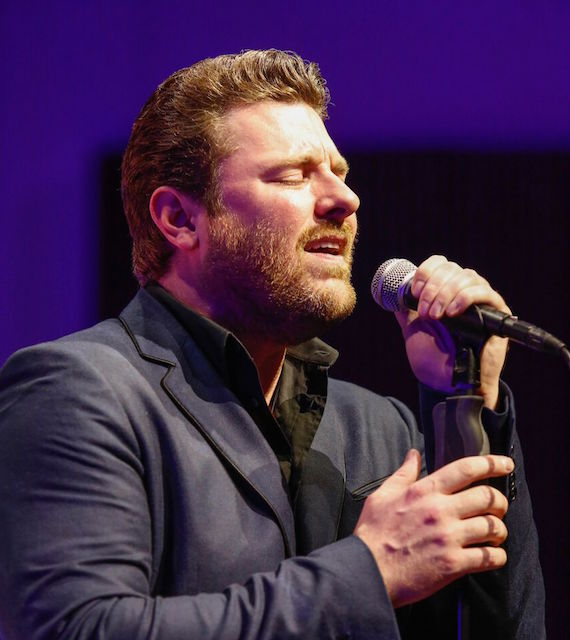 "RCA Records Nashville recording artist Chris Young sang his chart-topping hit ""I'm Comin' Over"" to celebrate his co-writer and 2016 SESAC Songwriter of the Year, Josh Hoge. Photo: Ed Rode"