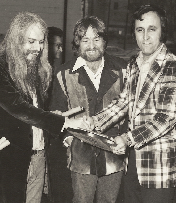 Pictured (L-R): Leon Russell, Willie Nelson, and Charlie Monk. Photo: Courtesy Charlie Monk