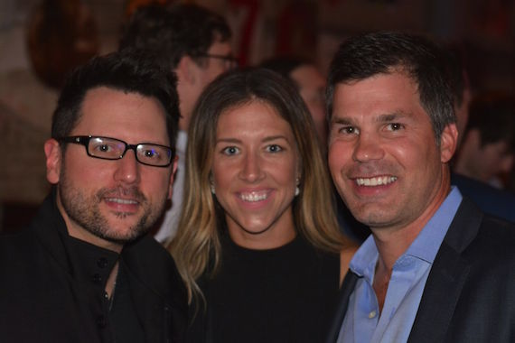 Pictured (L-R): Chris DeStefano (Sony ATV writer), Penny Gattis, Duff Berschback (Sony ATV)