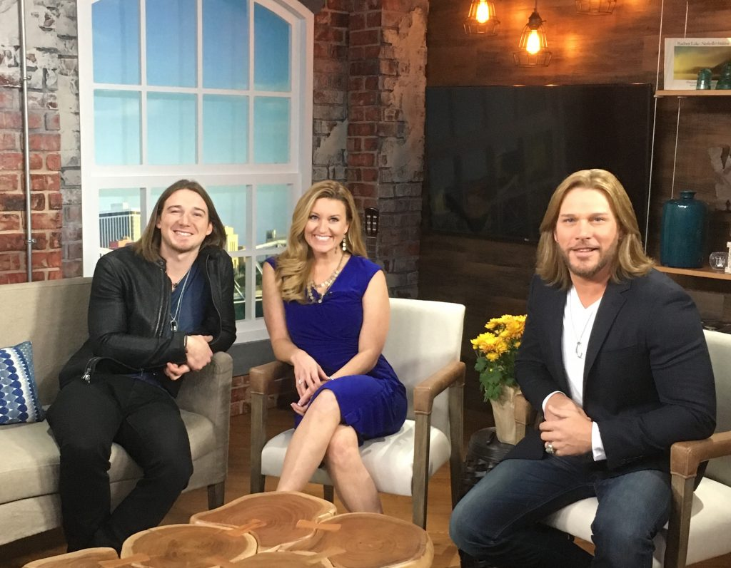 Pictured (L-R): Morgan Wallen, TODAY in Nashville host Kelly Sutton and guest co-host Craig Wayne Boyd