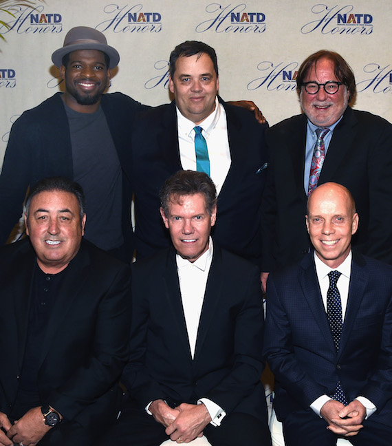 Back Row: P.K. Subban, Mike Smardak, Rod Essig. Front Row: Doc McGhee, Randy Travis and Scott Hamilton attend the 2016 NATD Honors Gala at the Hermitage Hotel on November 9, 2016 in Nashville, Tennessee. Photo: Rick Diamond/Getty Images for NATD