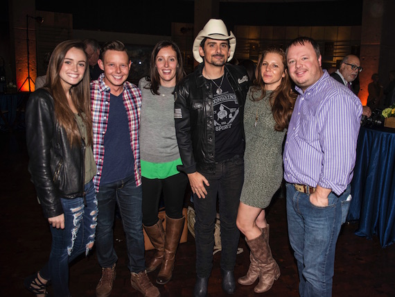 Pictured (L-R): Olivia Laster (Arista Promotion Specialist), Rusty Sherrill (Arista Regional), Abi Fishbone (Arista Regional), Brad Paisley, Lauren Thomas Fowler (Director, National Promotion), Josh Easler (VP Arista Promotion)